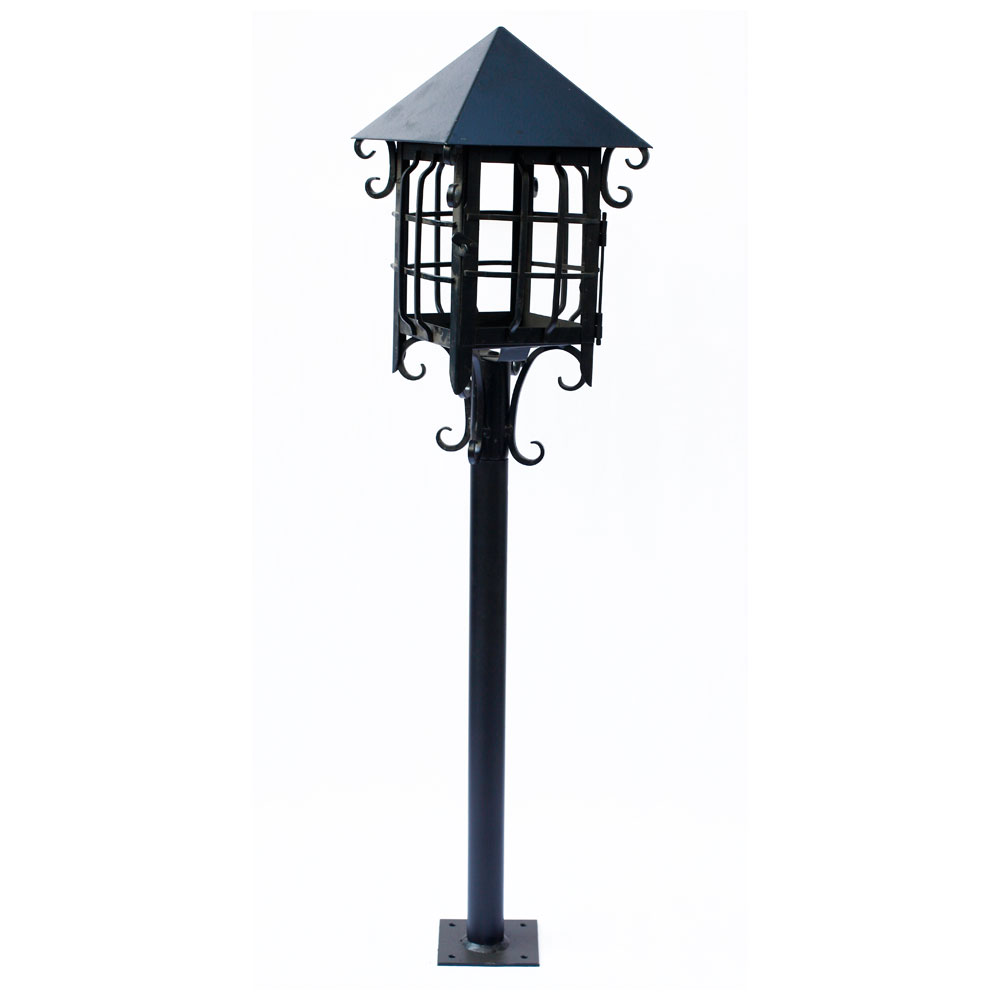 Farol colonial pedestal p jard n euro iluminaci n - Farol solar para jardin ...